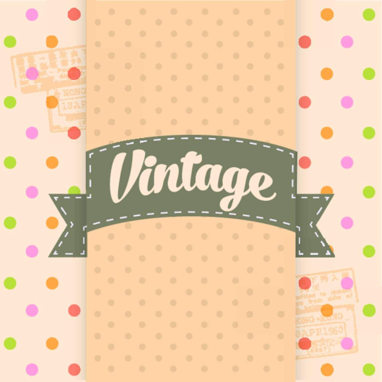 "Free vector ""Vintage Template Background"""