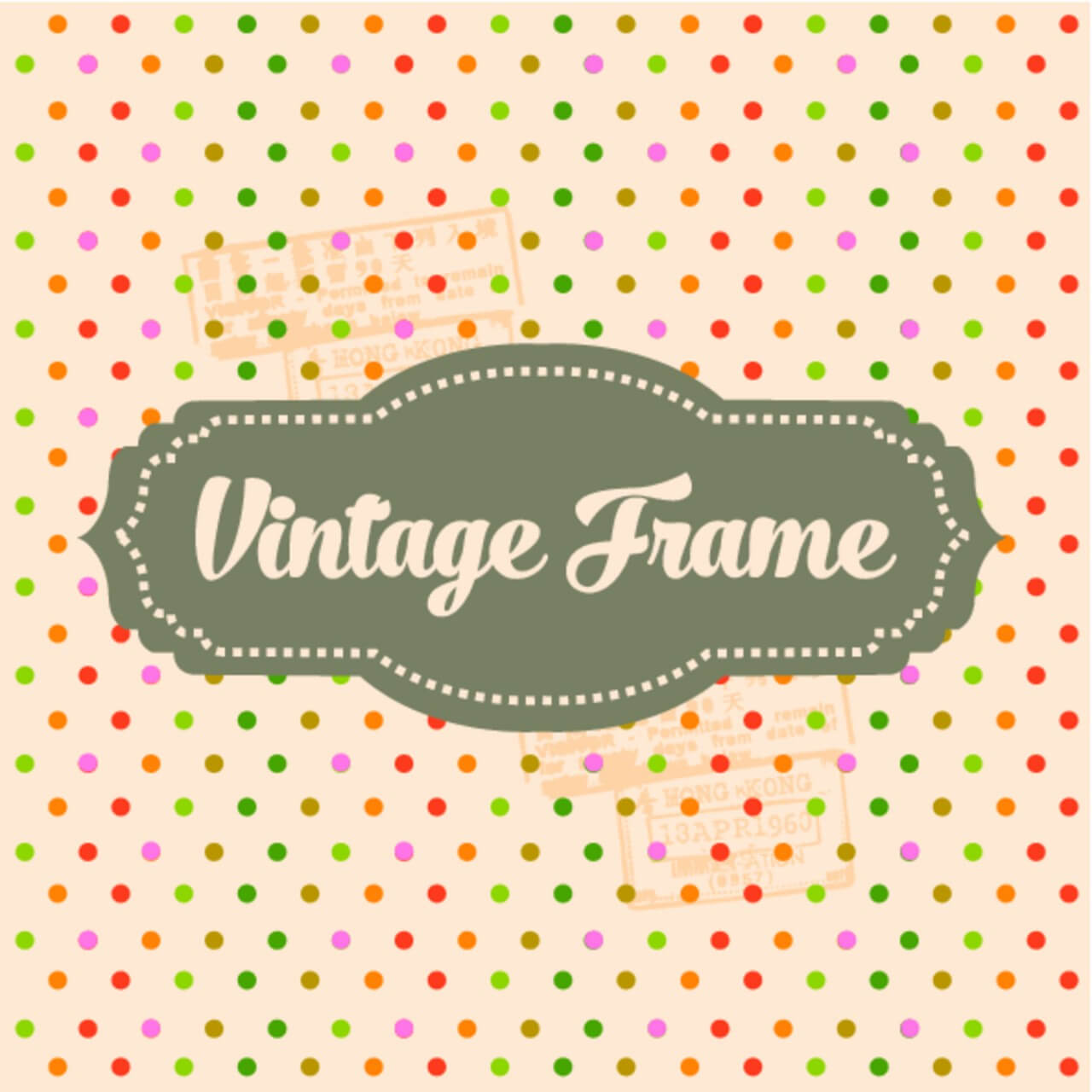 """Free vector """"Vintage Template Background"""""""