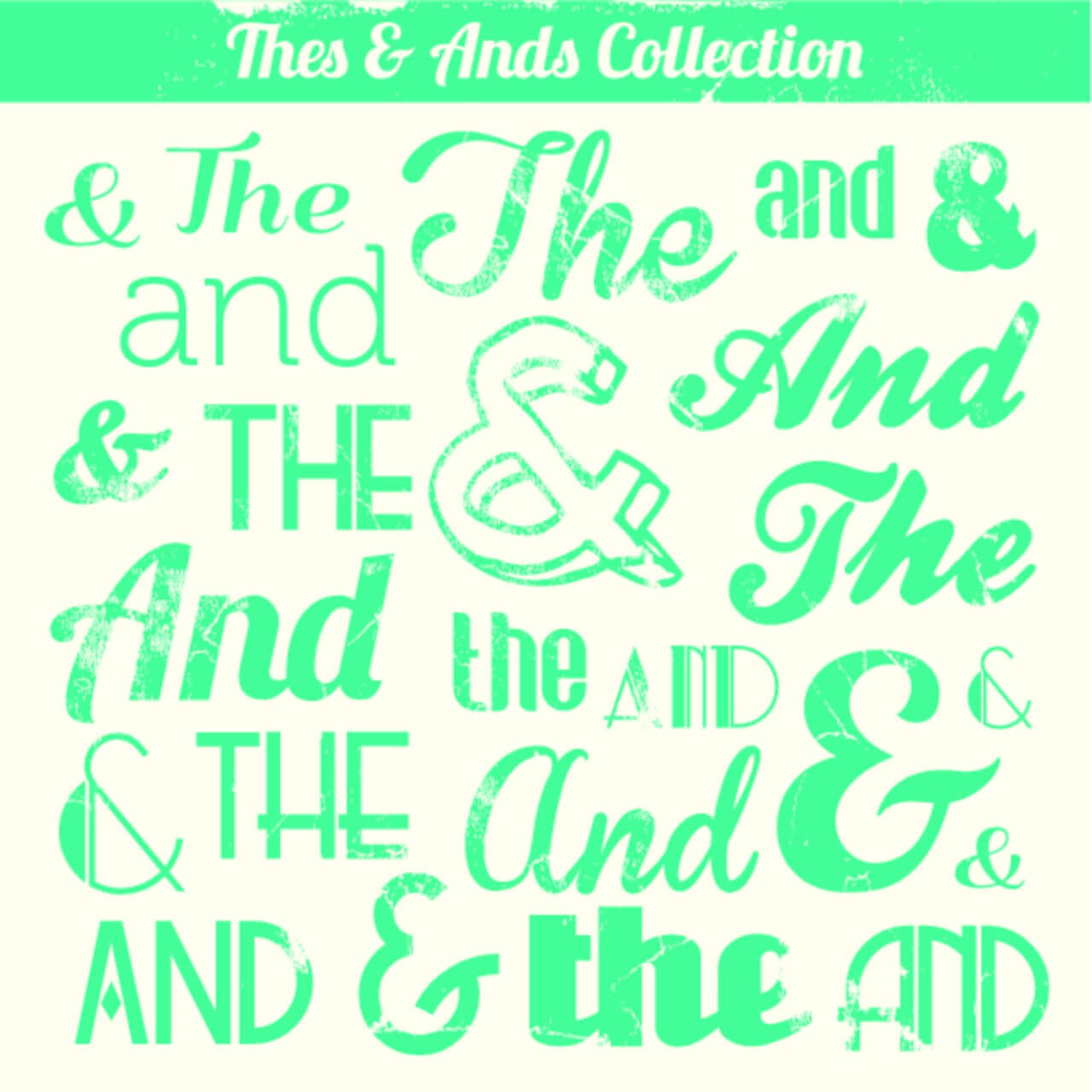"Free vector ""Various Vintage Thes & Ands Collection"""