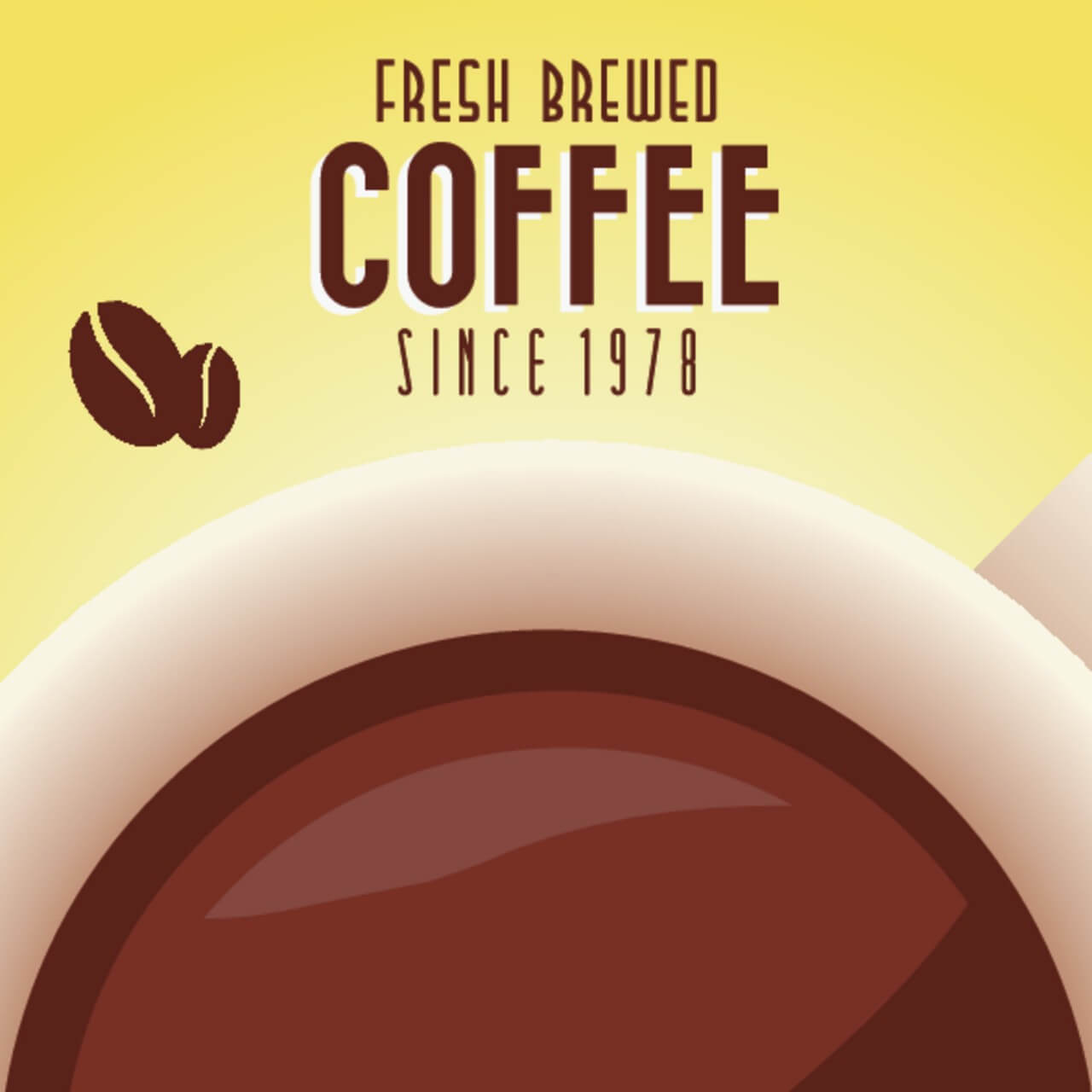 """Free vector """"Vintage Coffee Background with Typography"""""""