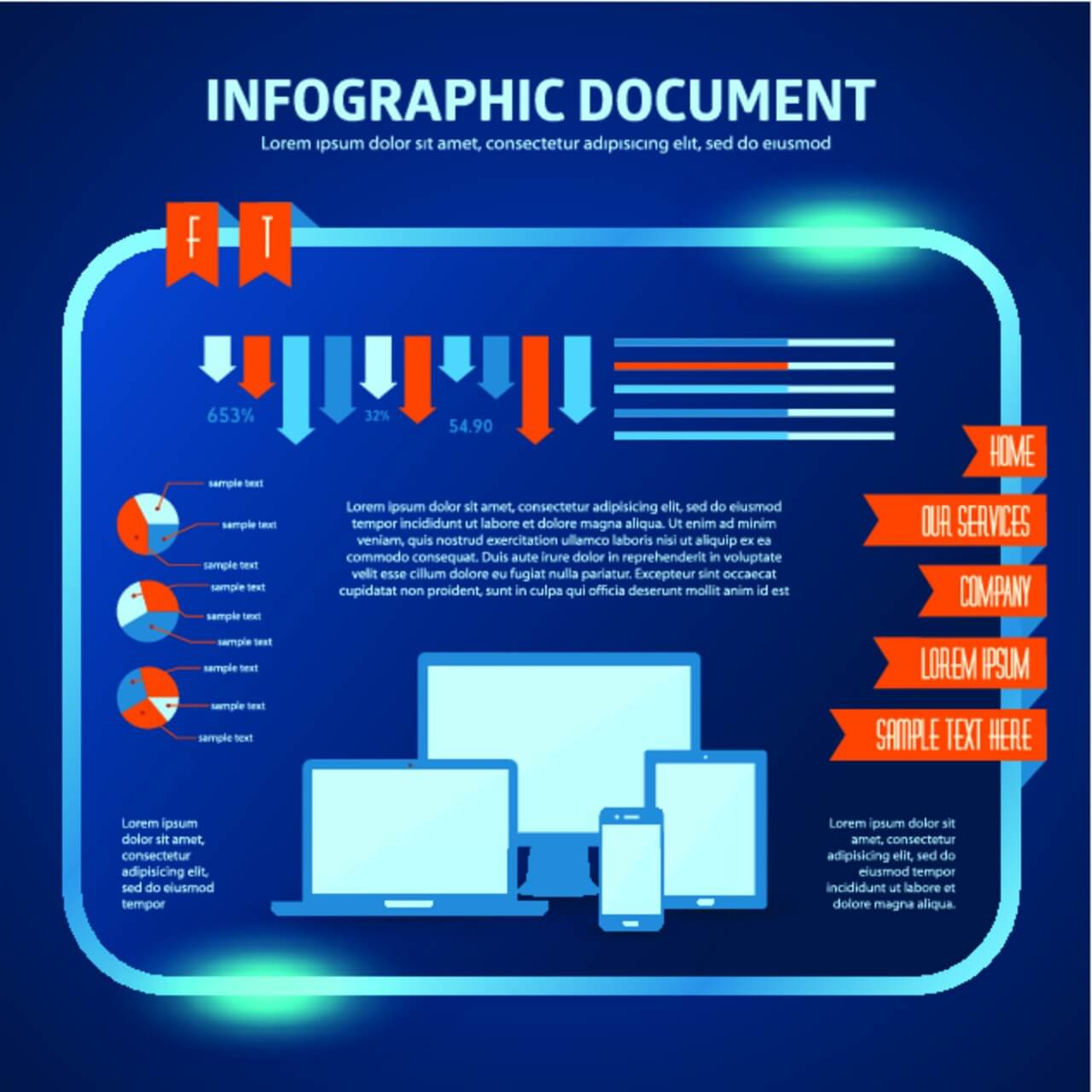 "Free vector ""Vector set of infographic elements for your documents"""