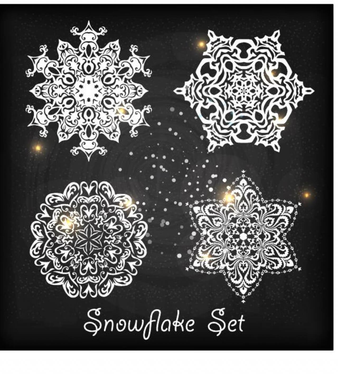 """Free vector """"Christmas snowflake"""""""