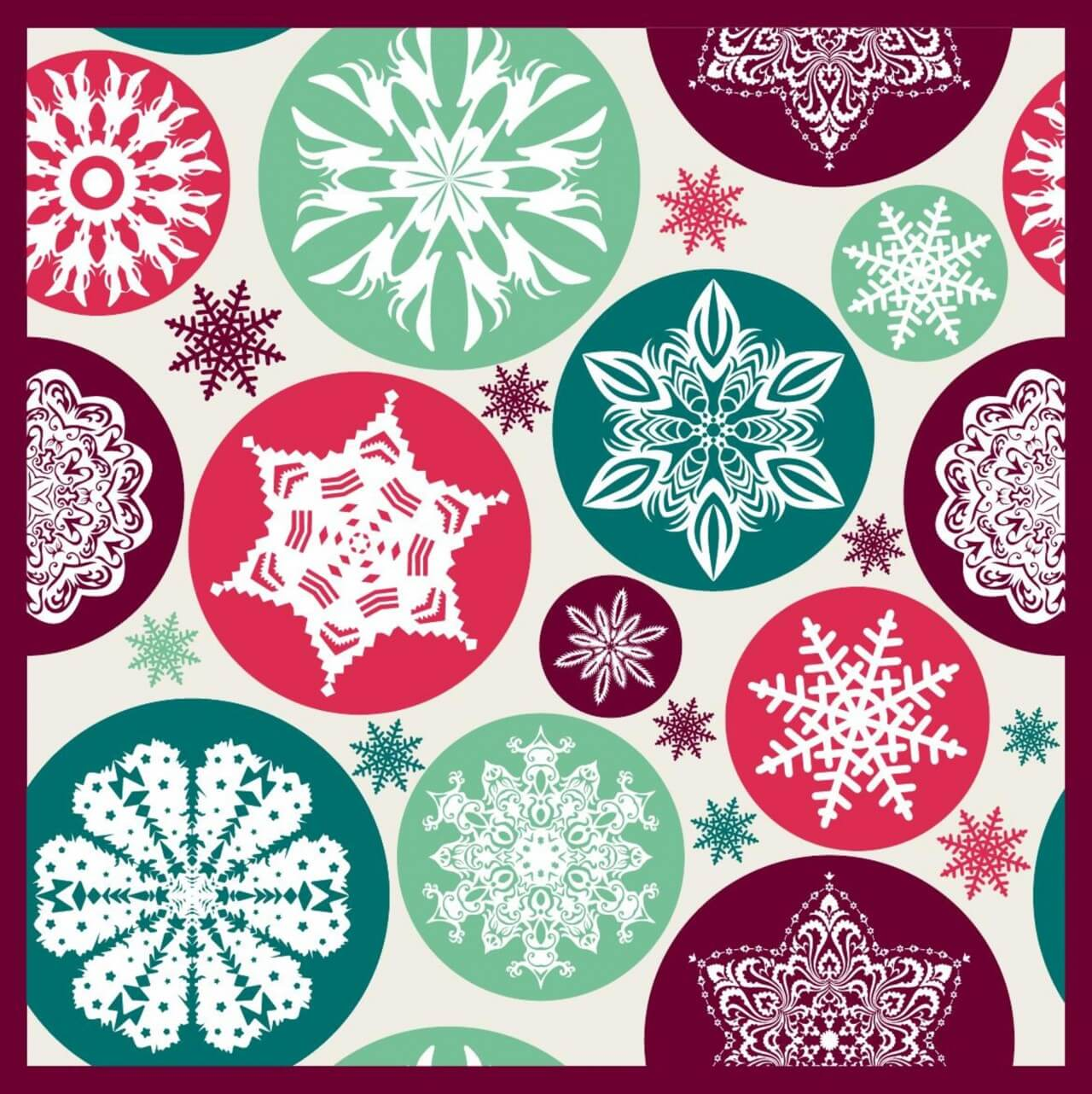 "Free vector ""Christmas snowflake pattern."""