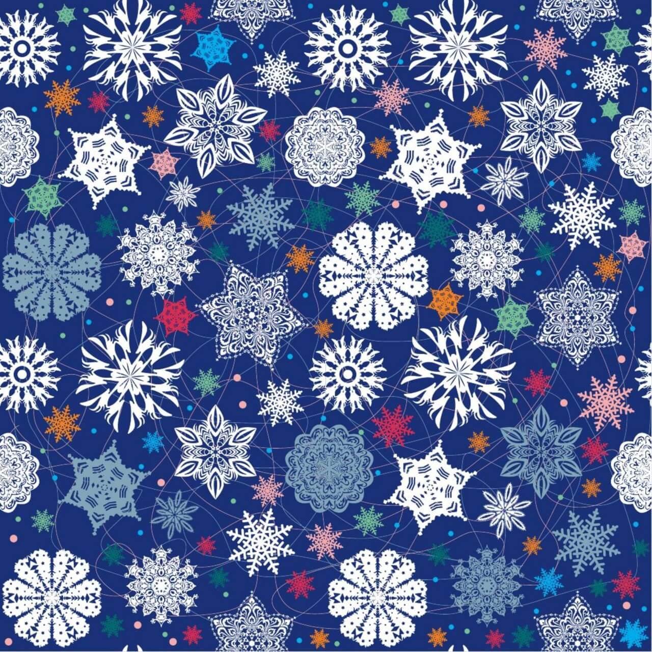 "Free vector ""Christmas snowflake pattern."""