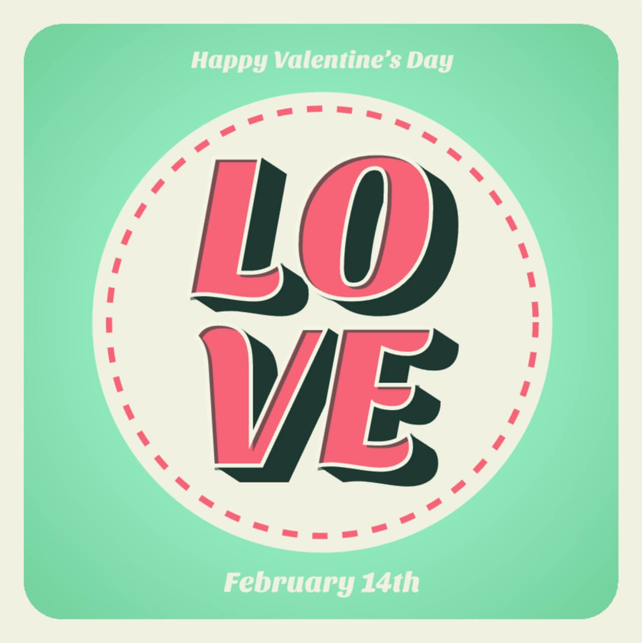 "Free vector ""Valentines day typographic background"""
