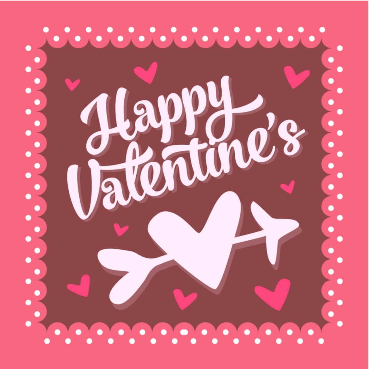 "Free vector ""Valentines day vintage typographic background"""