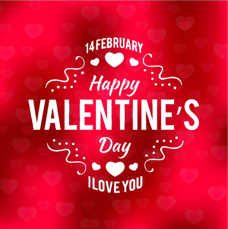 "Free vector ""Valentines day typographic background"""