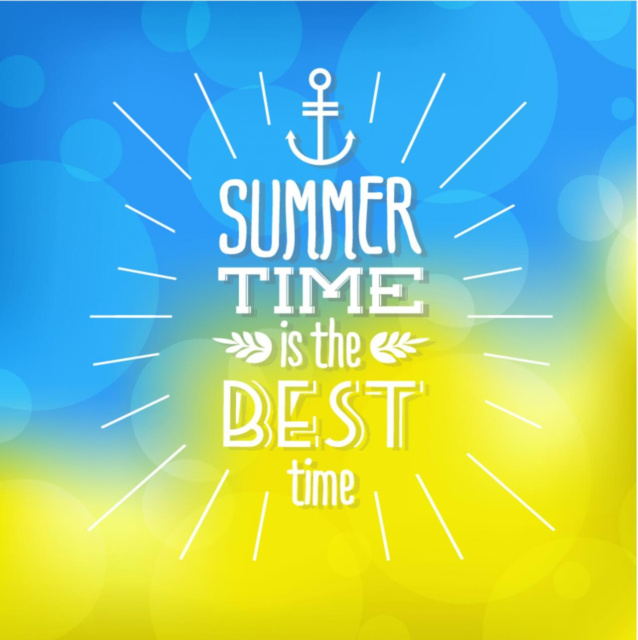 "Free vector ""Summer background with text"""