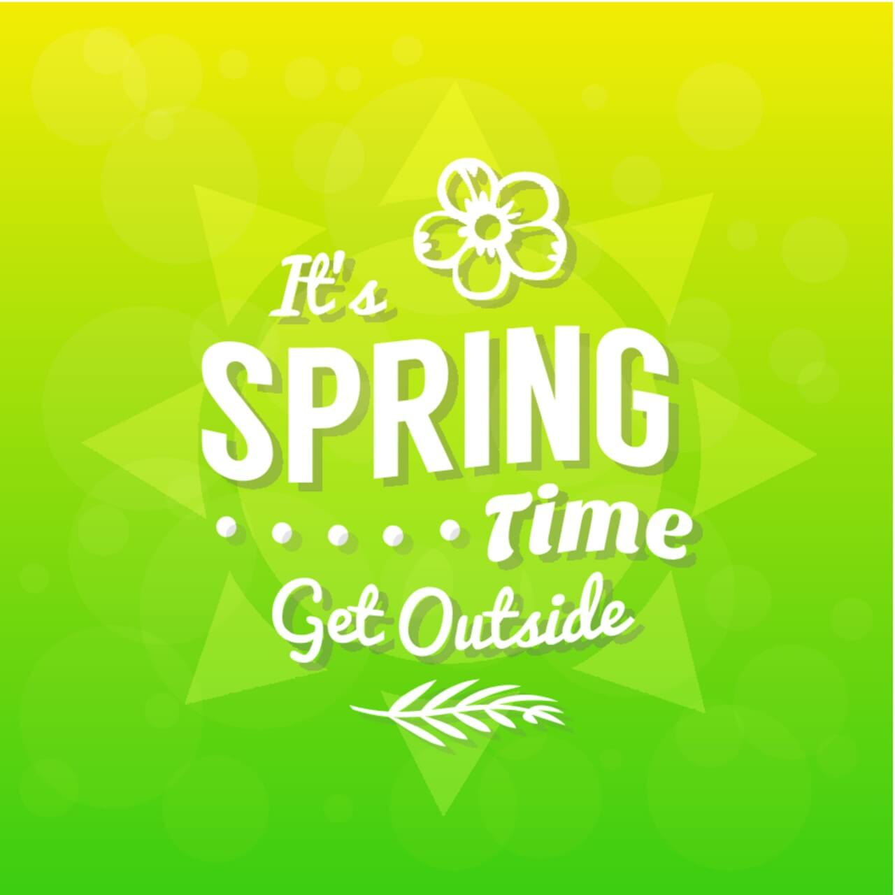 "Free vector ""Spring Typographic Background"""