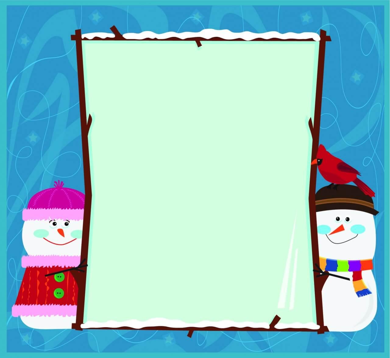 "Free vector ""Snowman Banner"""