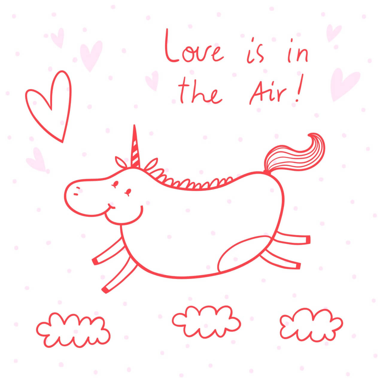 "Free vector ""Illustration of happy unicorn"""