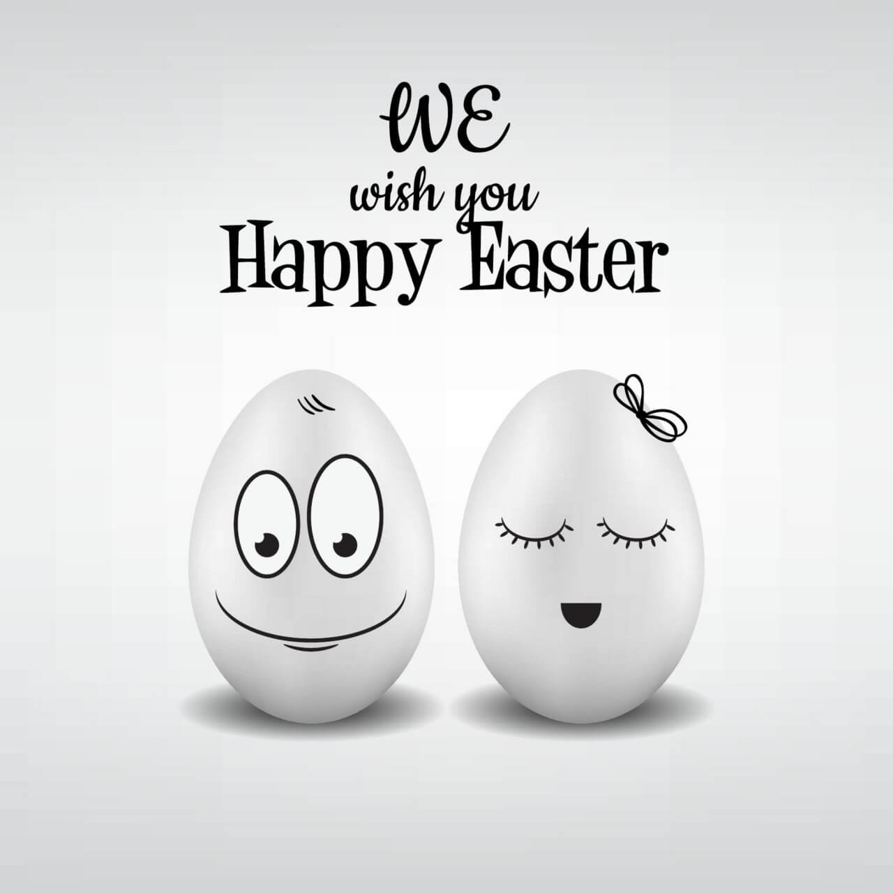 """Free vector """"Easter pattern with eggs and typography"""""""
