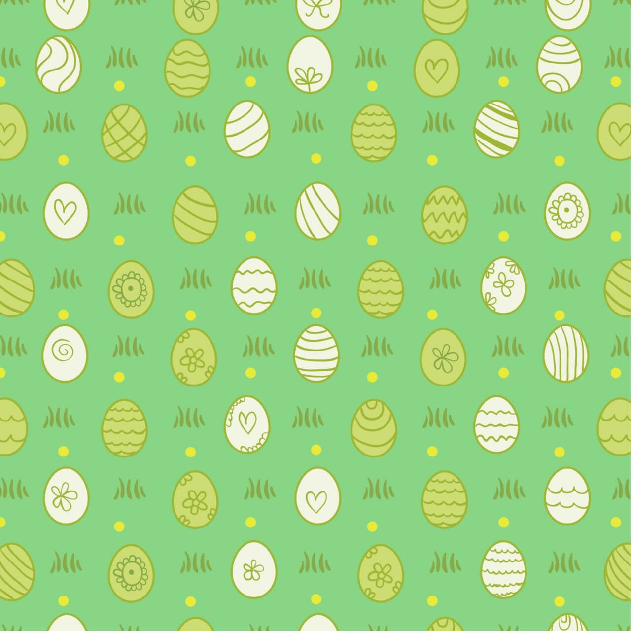"""Free vector """"Easter pattern with eggs"""""""
