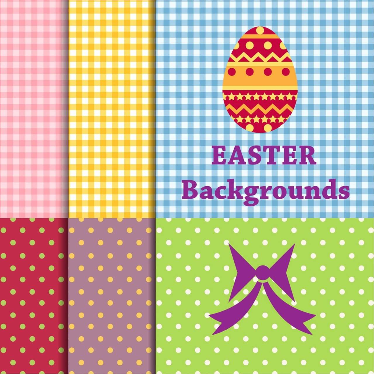 "Free vector ""Easter backgrounds"""
