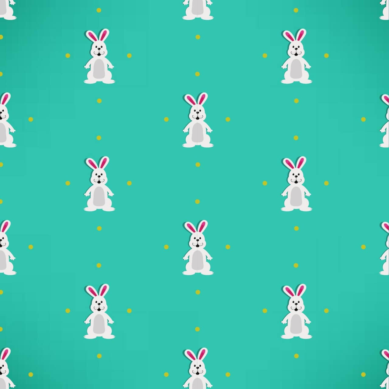 "Free vector ""Easter pattern with rabbits"""