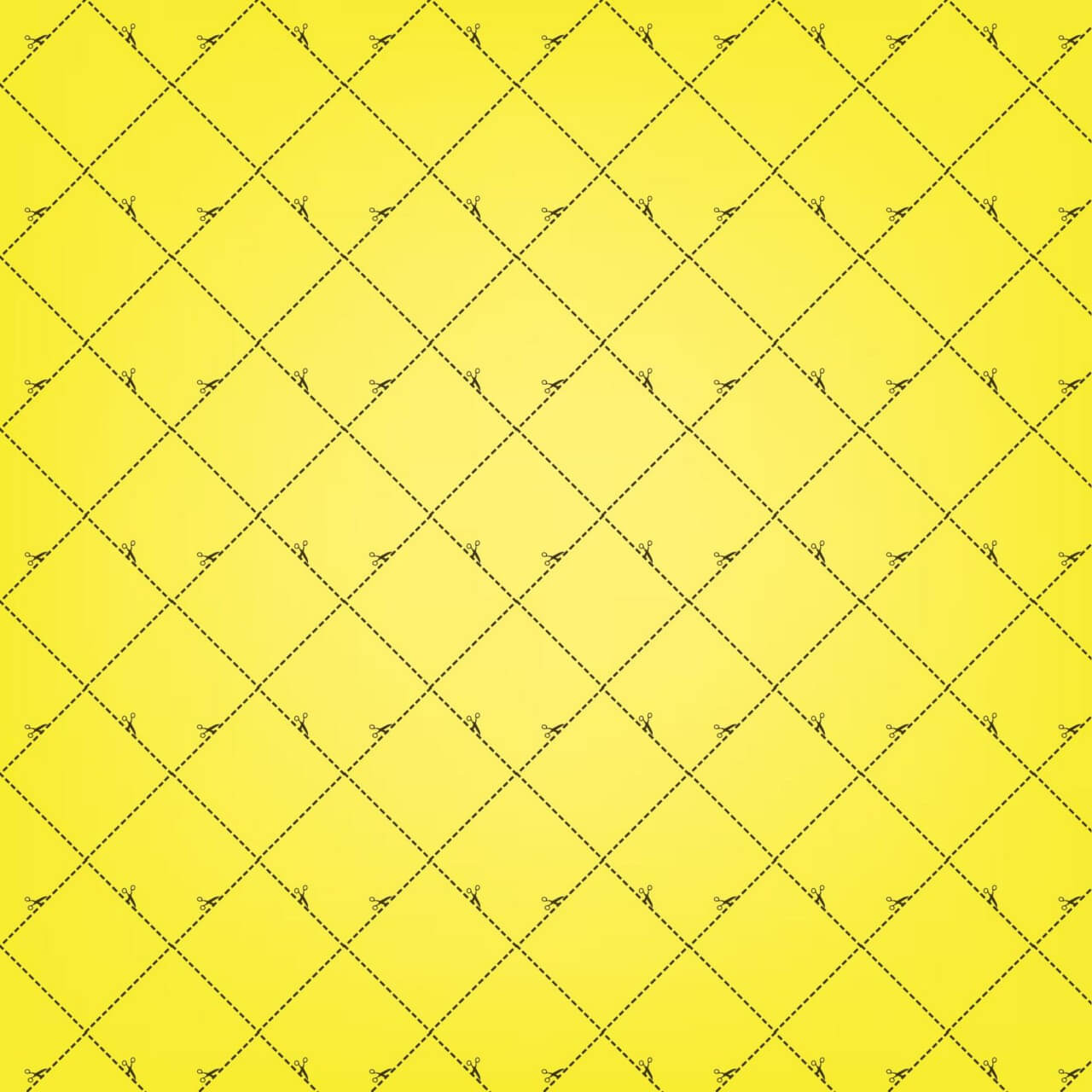 "Free vector ""Yellow Squares Pattern With Scissors"""