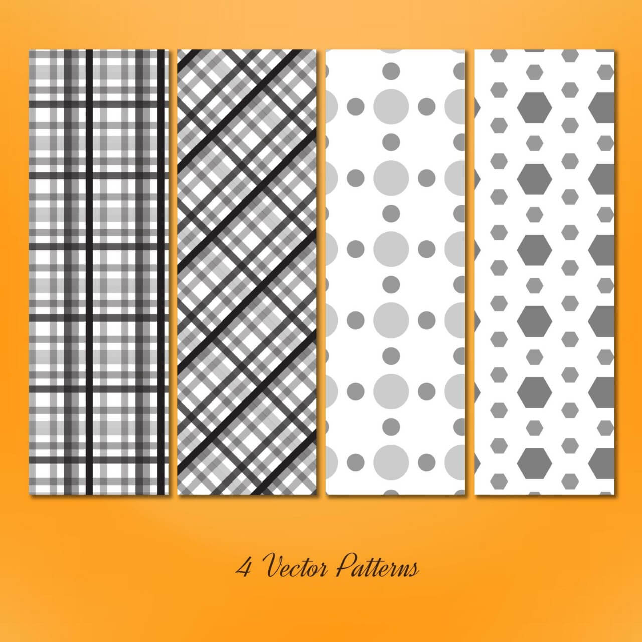 "Free vector ""Geometric Seamless Patterns Set"""
