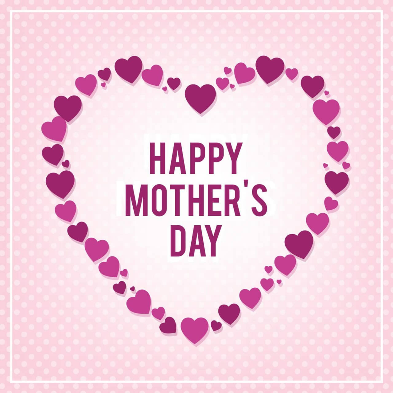 "Free vector ""Happy Mothers's Day Typo With Heart"""