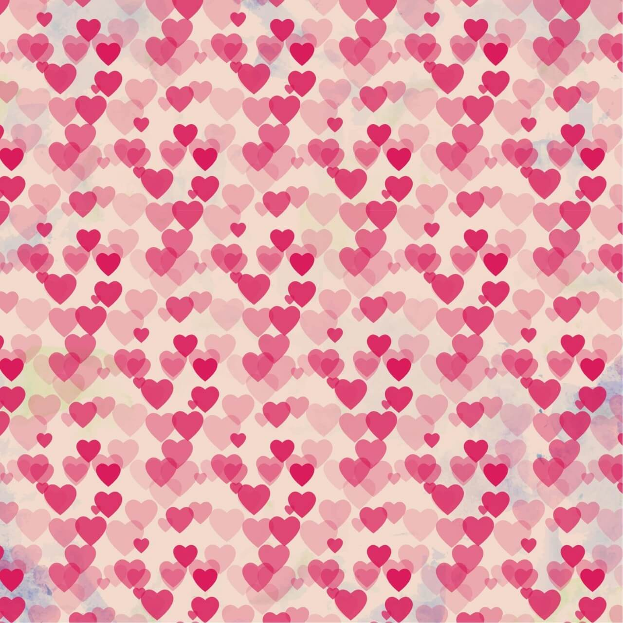 """Free vector """"Valentine's day vintage background with hearts"""""""