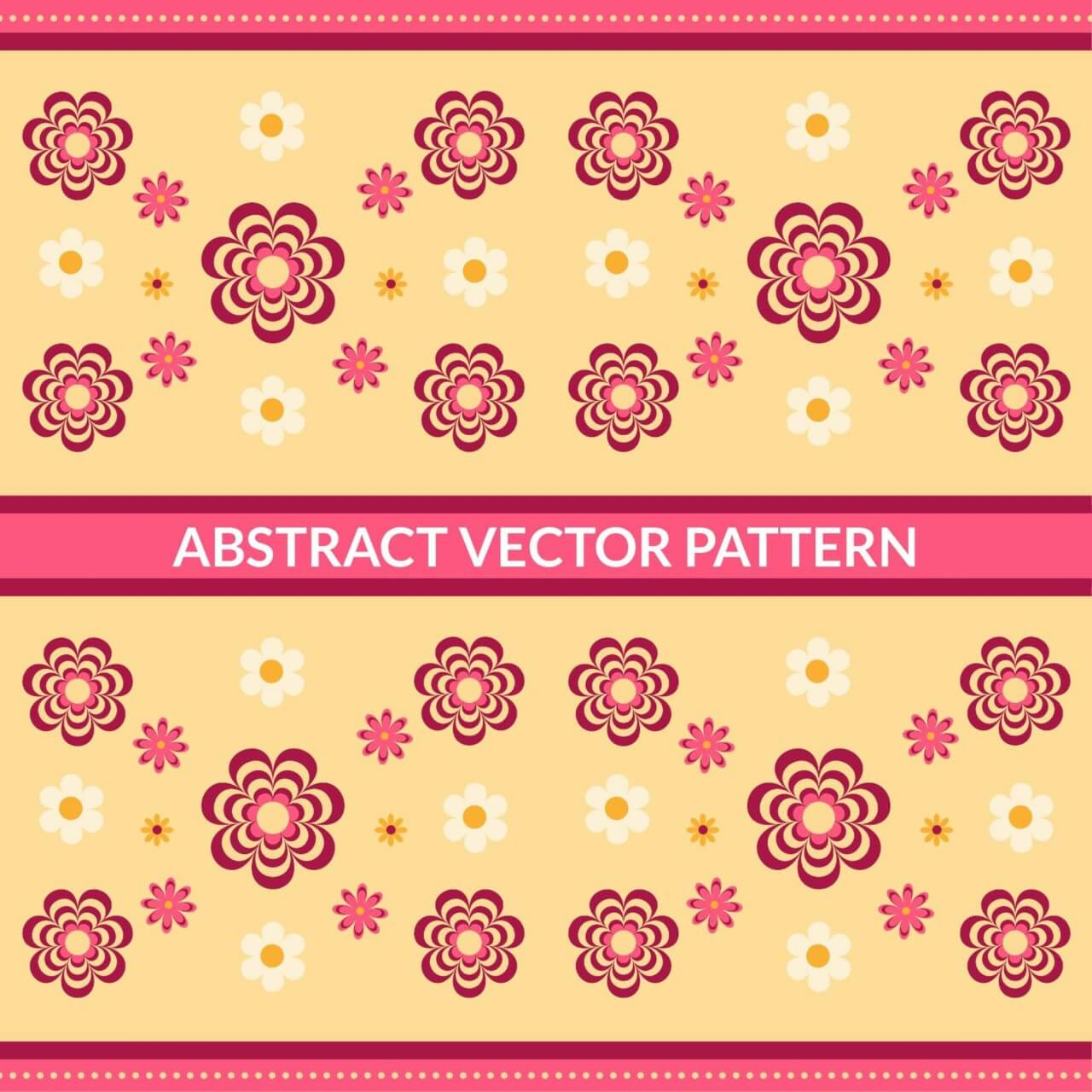 """Free vector """"Abstract Floral Pattern"""""""