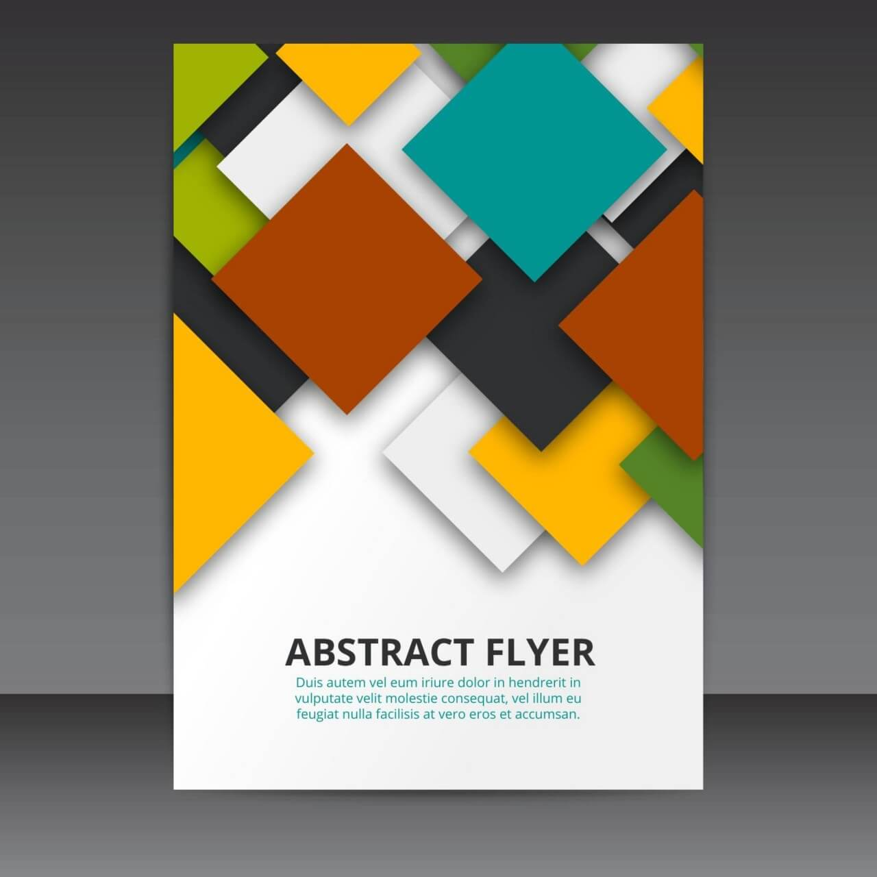 "Free vector ""Flyer Template Vector Design with colorful 3D Squares """