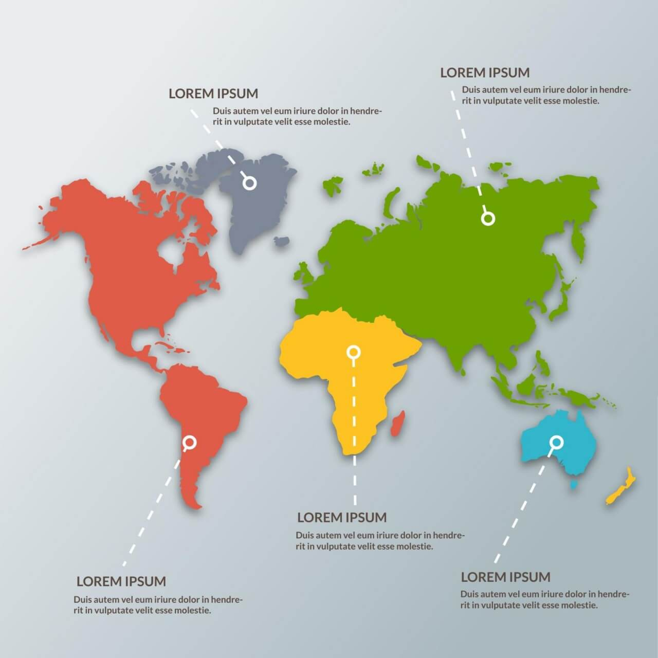 """Free vector """"World Map Infographic"""""""