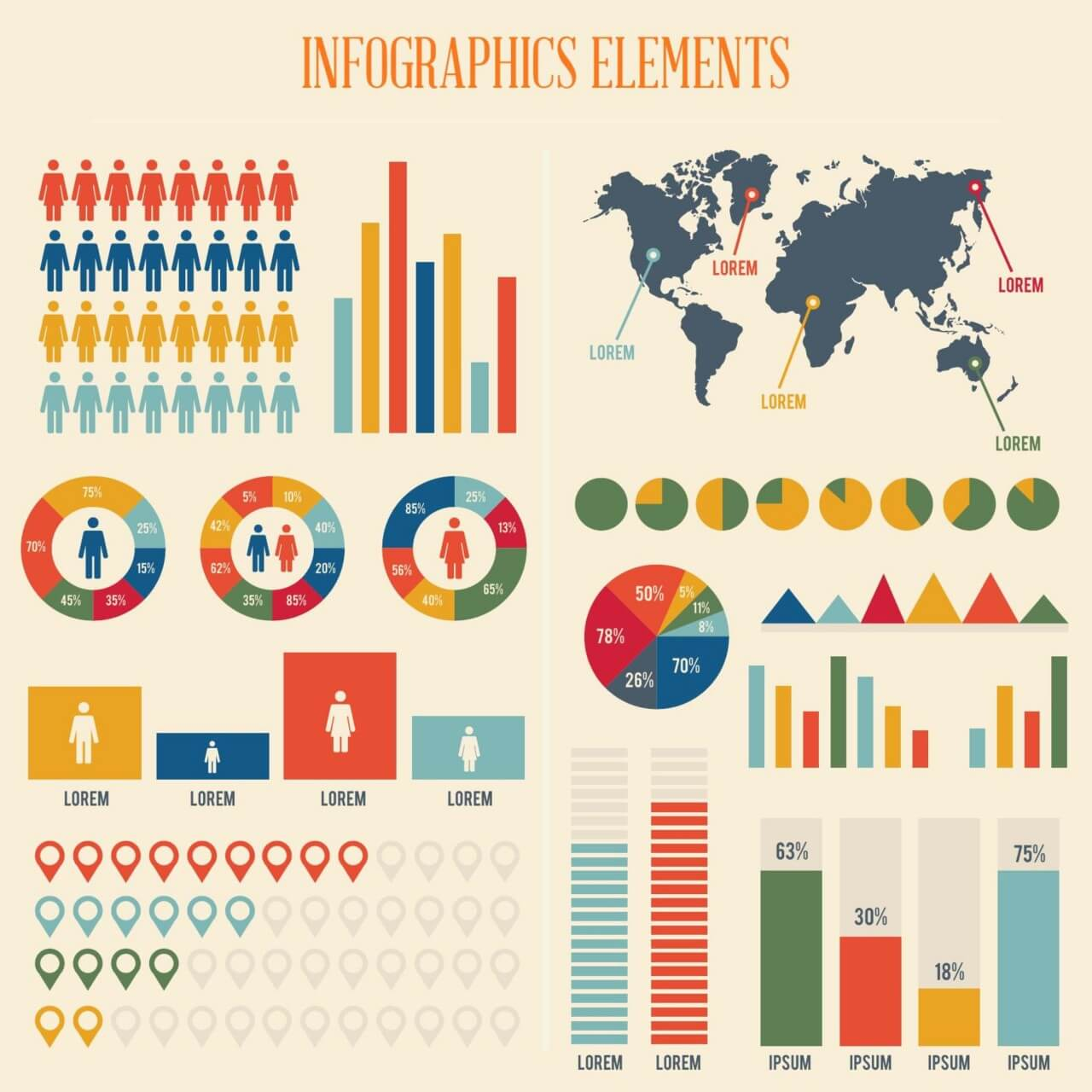 "Free vector ""Infographic Elements Set"""
