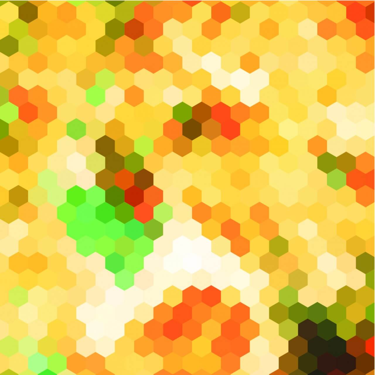 "Free vector ""Abstract yellow hexagon pattern background"""