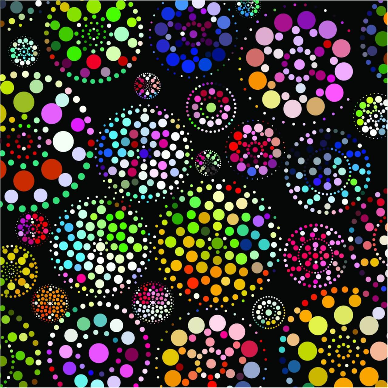 "Free vector ""Abstract colorful dots pattern background"""