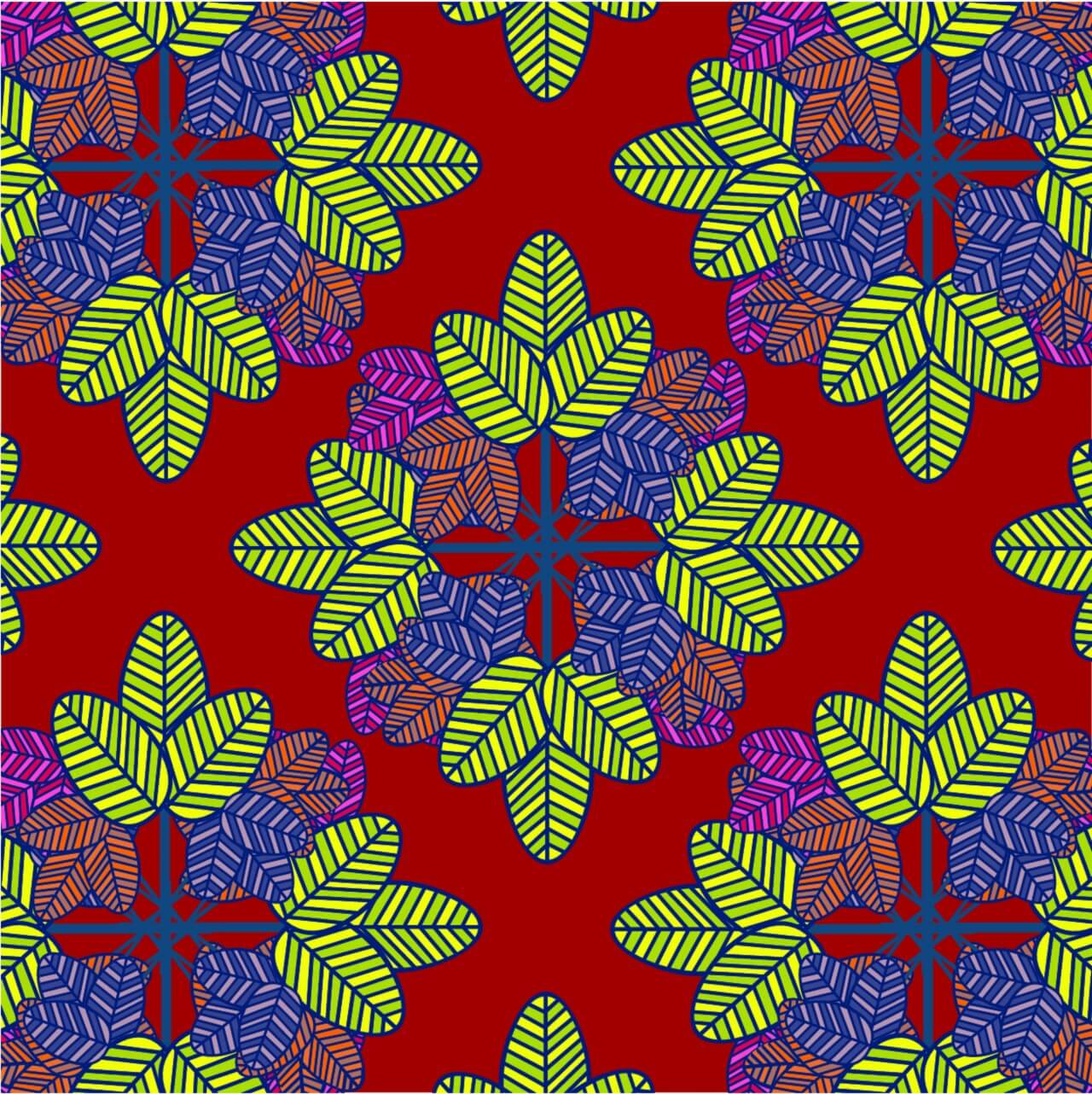 """Free vector """"Abstract color leaf pattern background"""""""