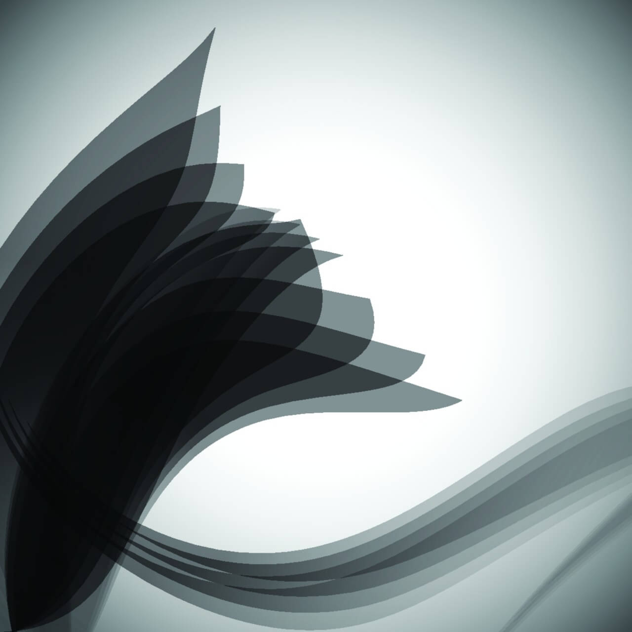 """Free vector """"Abstract gray wave stripe pattern background"""""""