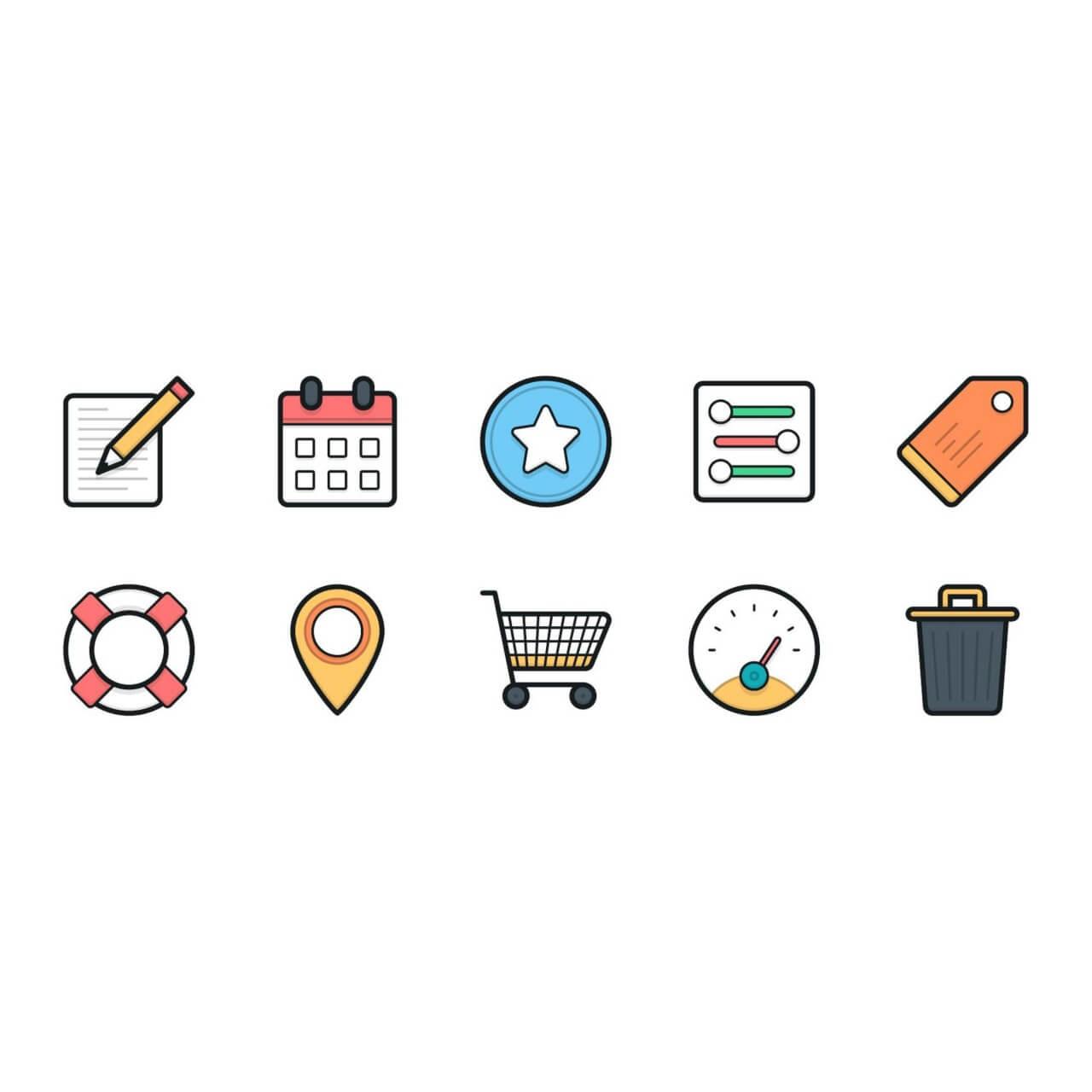 """Free vector """"Lulu Icons - Mini Set 5"""""""