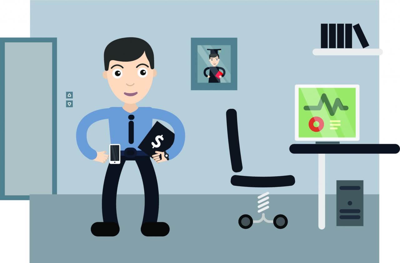 "Free vector ""Businessman profession vector character illustration"""
