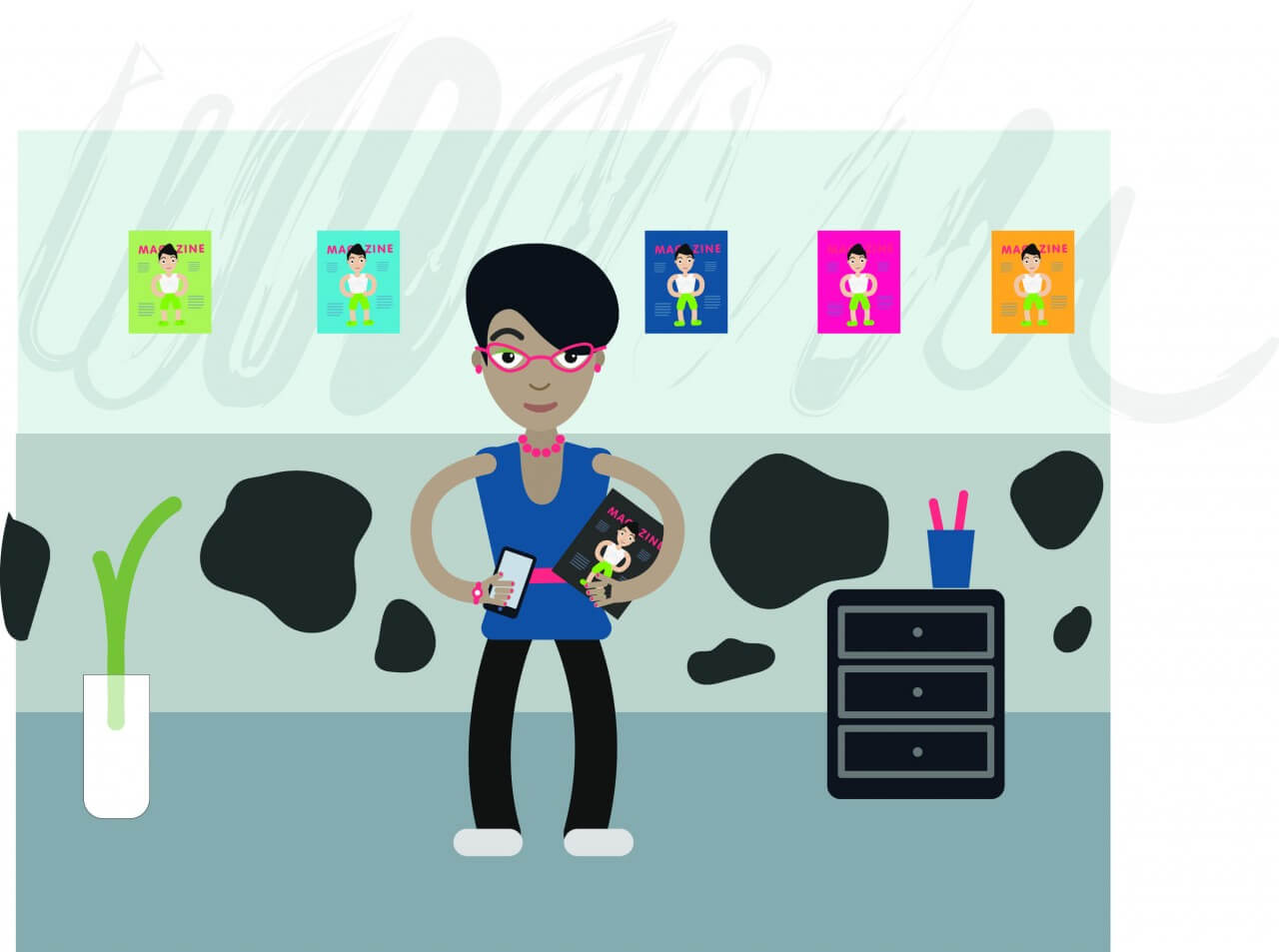 "Free vector ""Desk editor profession vector character illustration"""