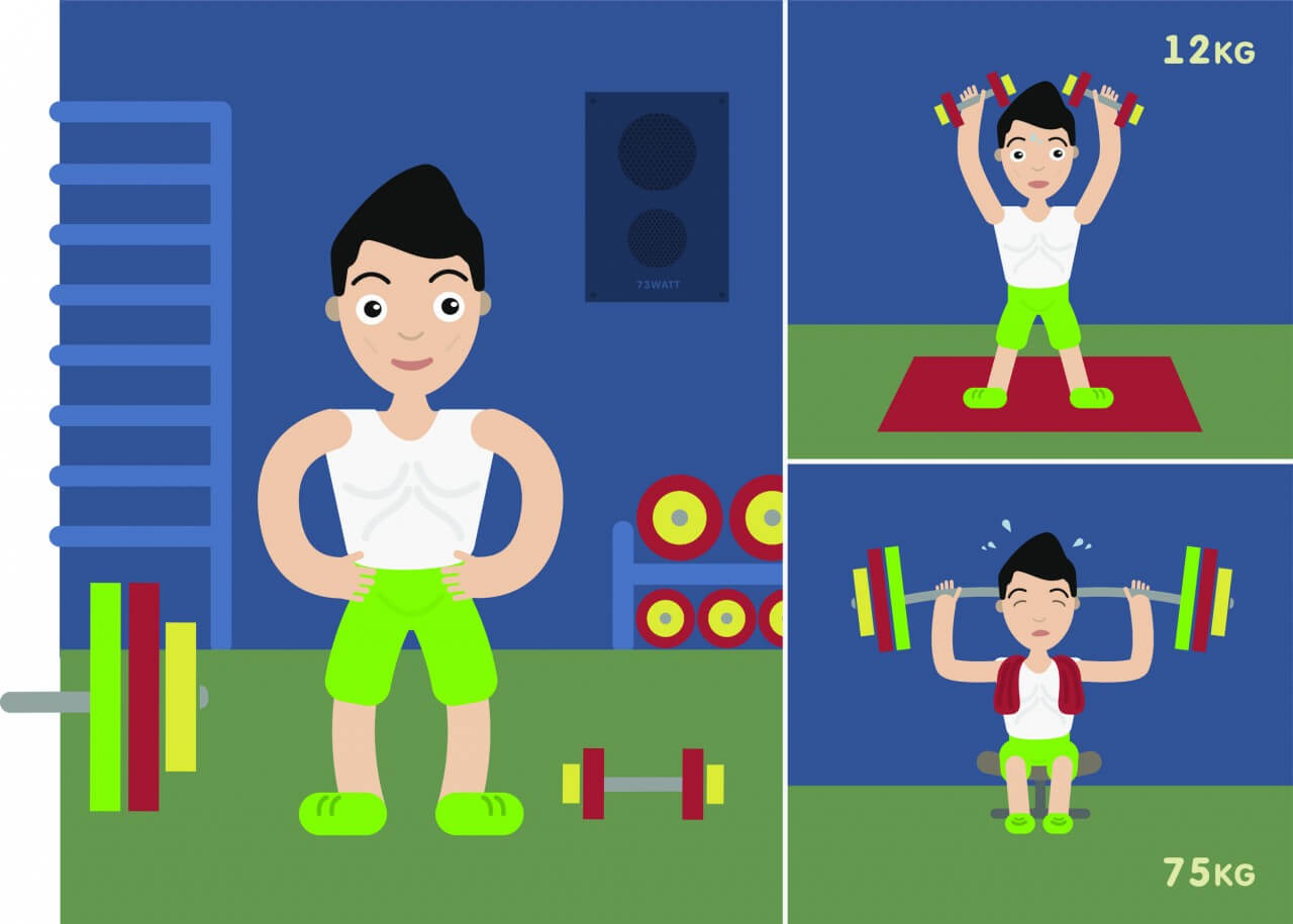"Free vector ""Sportsmen vector character illustration"""