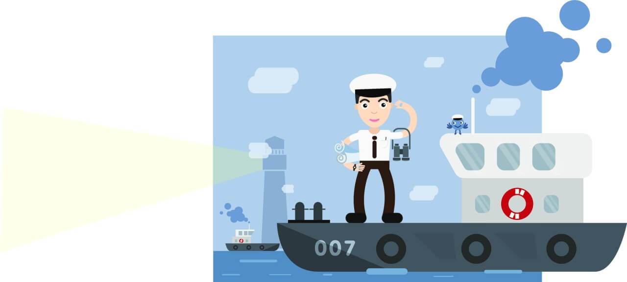 "Free vector ""Shipman profession vector character illustration"""