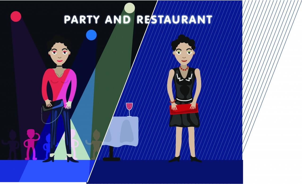 "Free vector ""Party girl editor vector character illustration"""