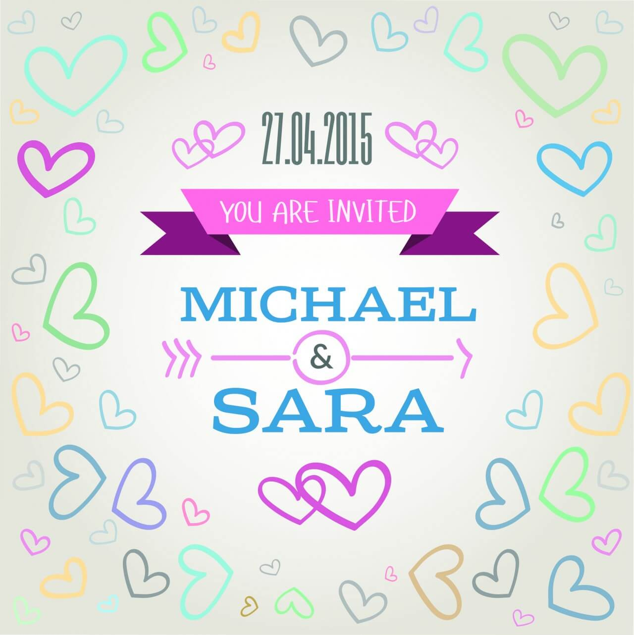 """Free vector """"Vector card with some text for wedding or birthday"""""""