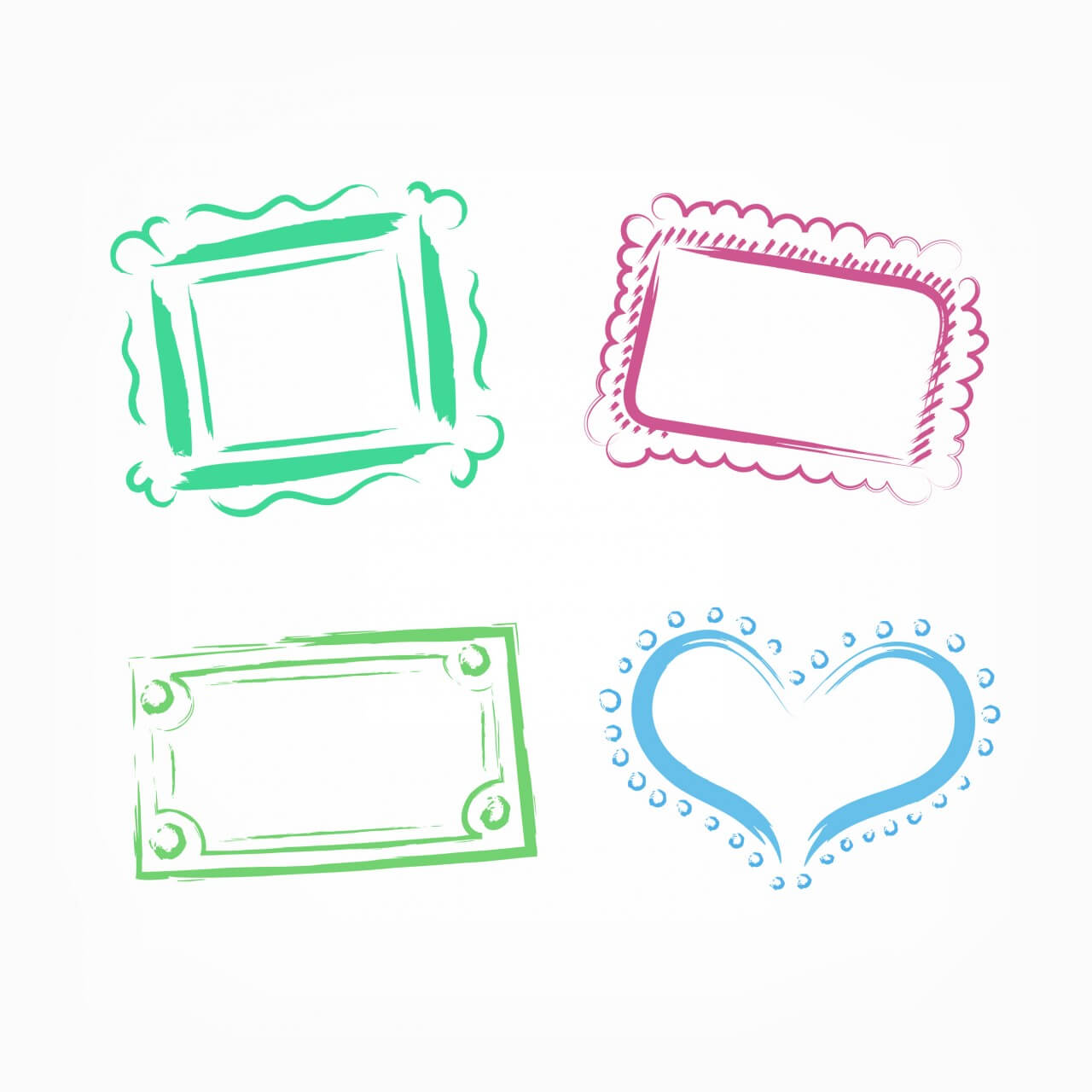 "Free vector ""Vector decoration frames for birhday or wedding design"""