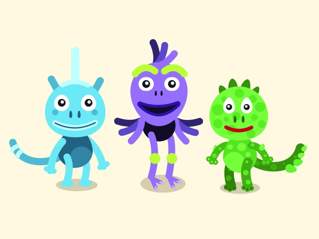 "Free vector ""Vector cartoon mascots characters illustration"""