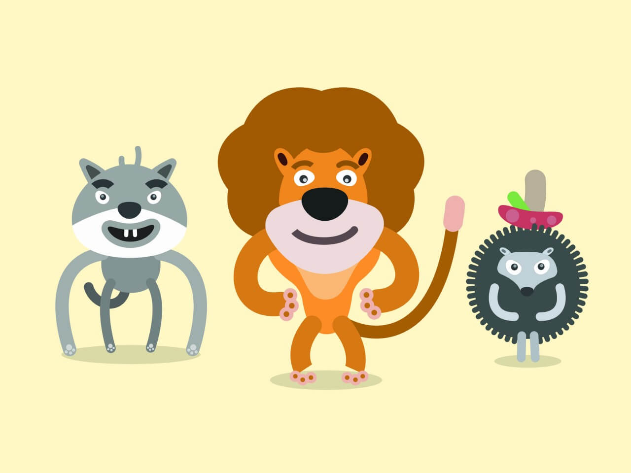 "Free vector ""Vector cartoon wild characters illustration"""