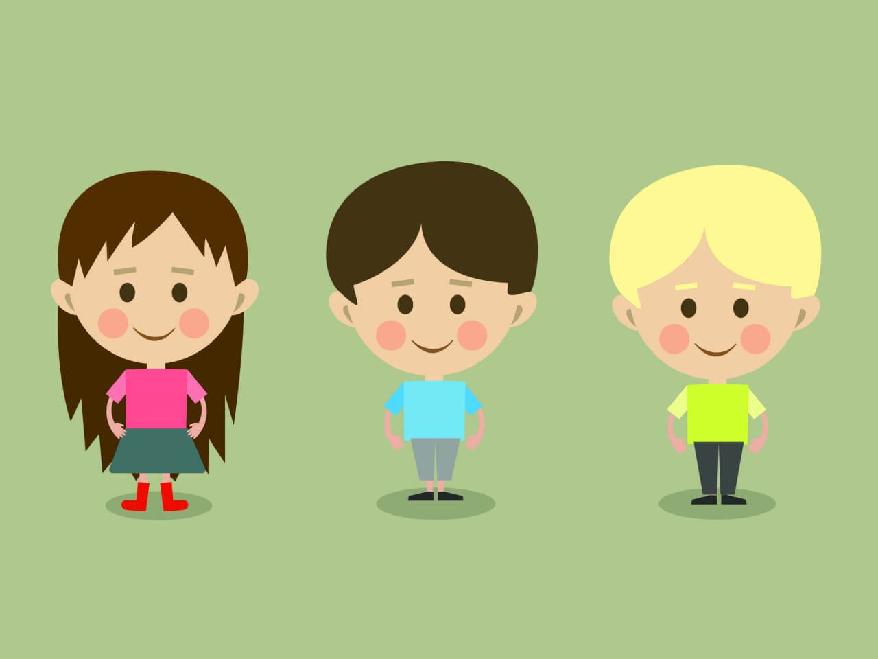 "Free vector ""Vector cartoon children characters illustration"""