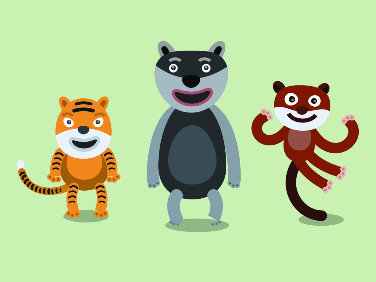 "Free vector ""Vector cartoon africa characters illustration"""