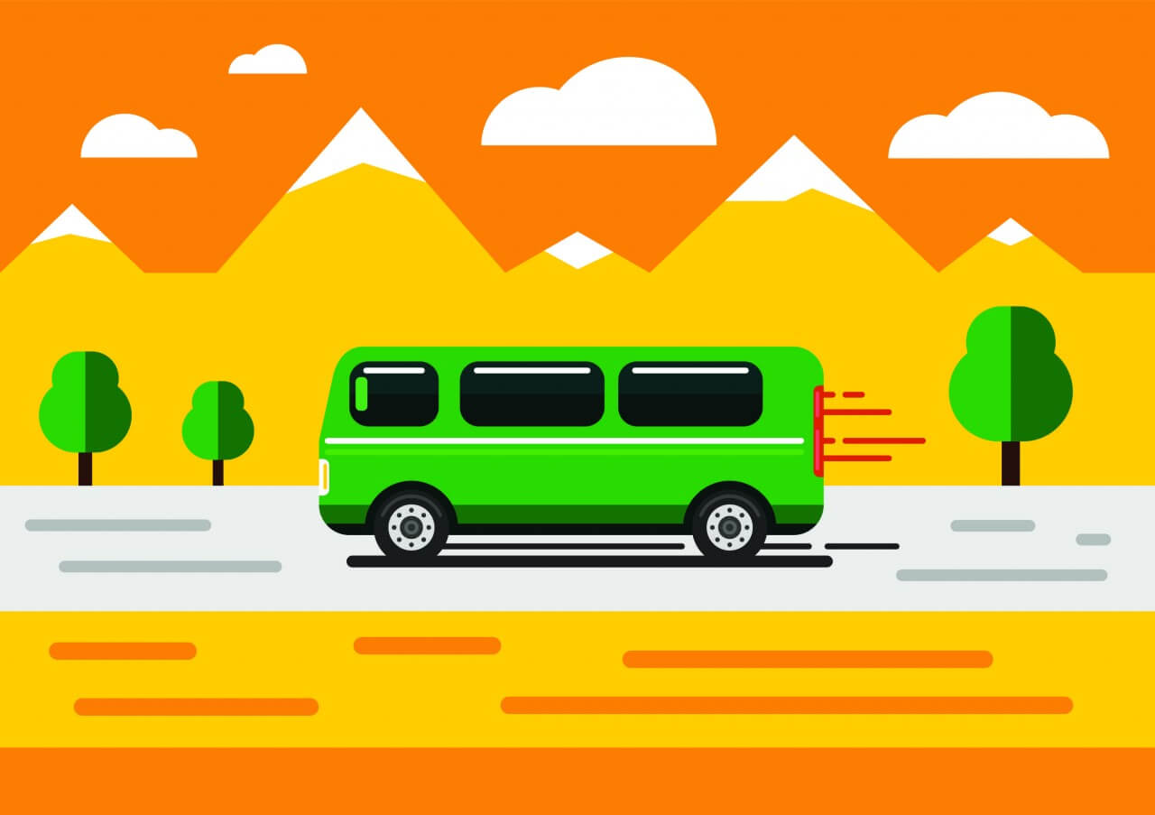 "Free vector ""Vector transport illustration for design"""
