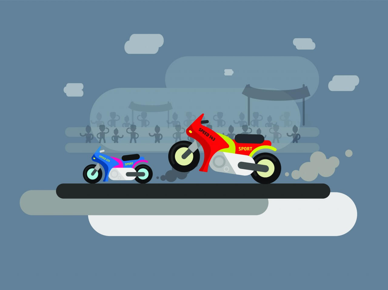 "Free vector ""Vector transport illustration for design"""