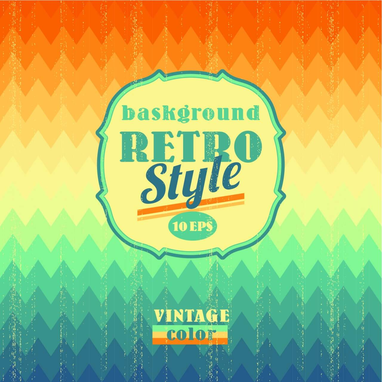 "Free vector ""Retro geometric background"""