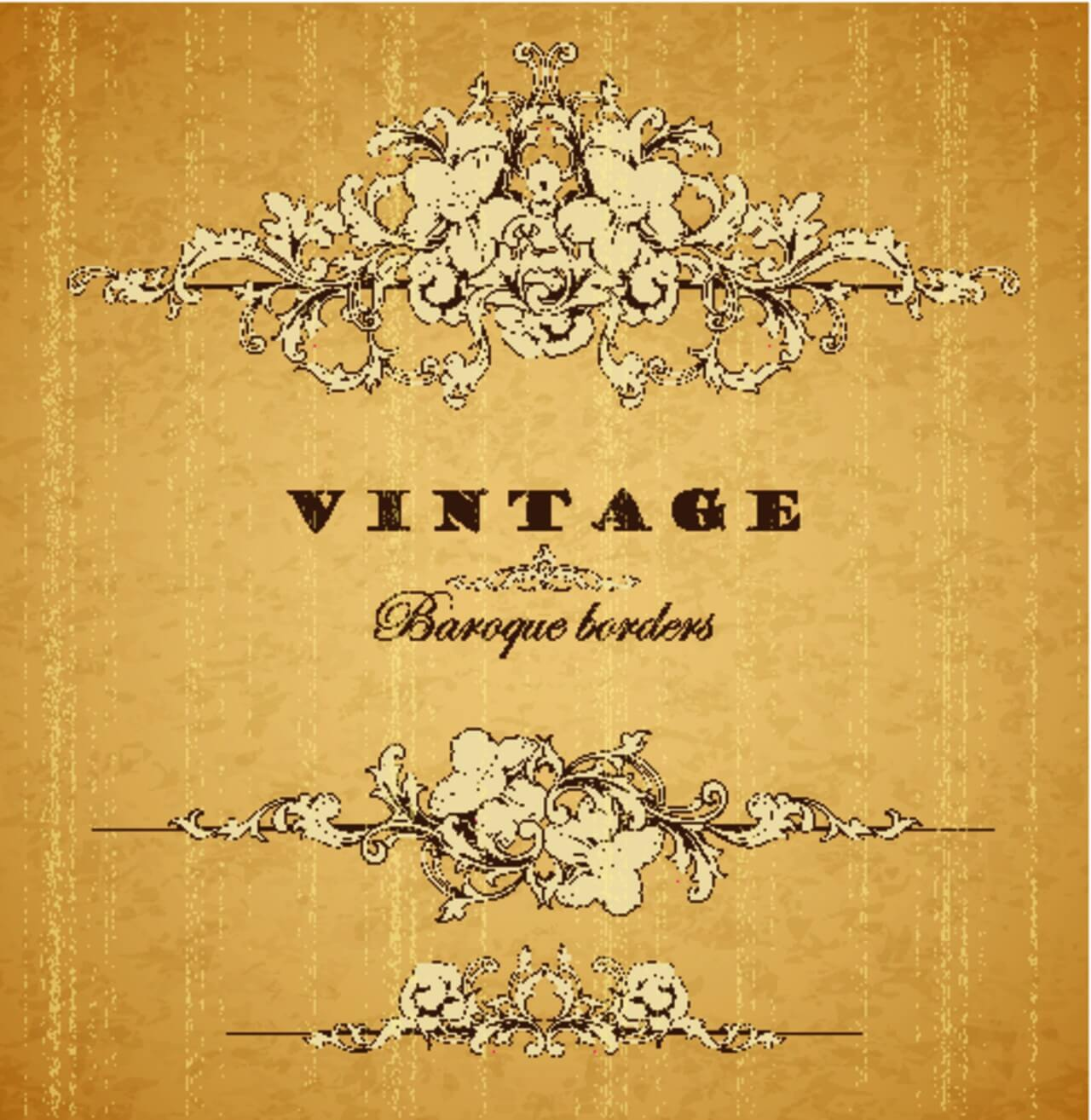 "Free vector ""Vintage ornamental baroque border"""