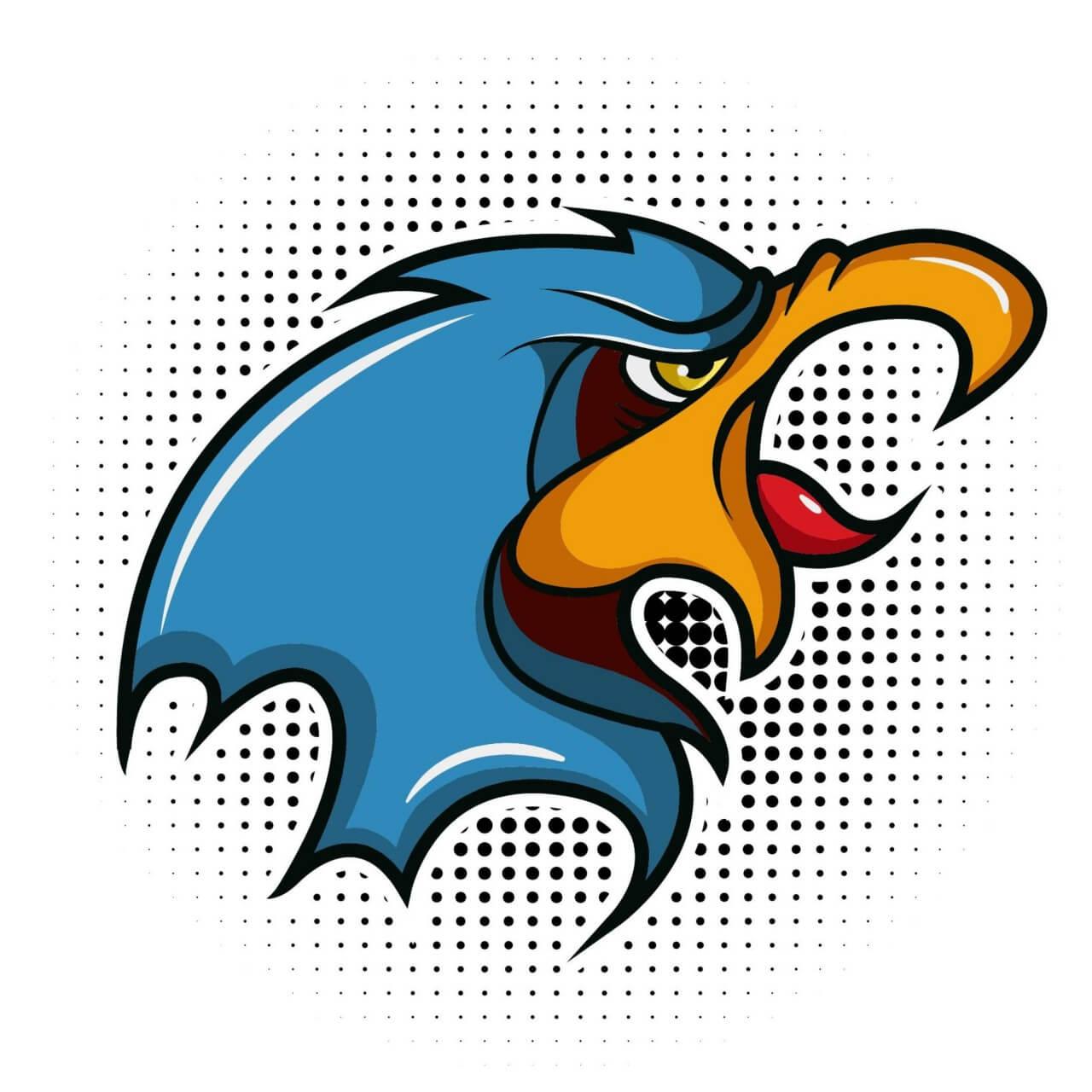 "Free vector ""Bird vector mascot"""