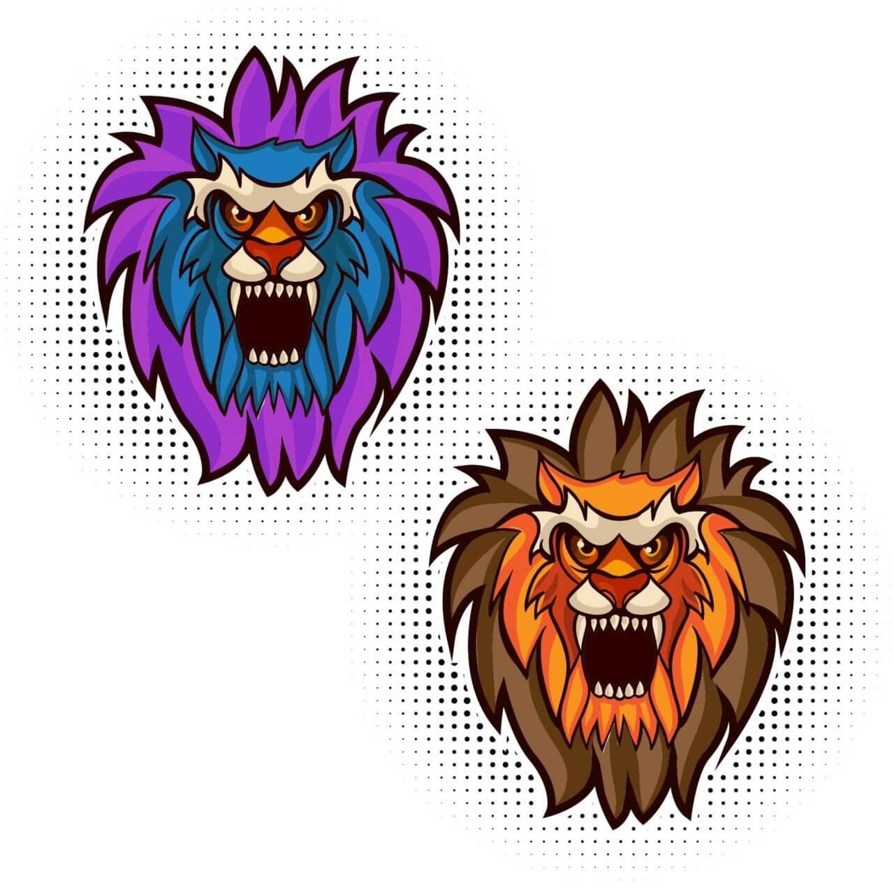 "Free vector ""Lion vector mascot"""