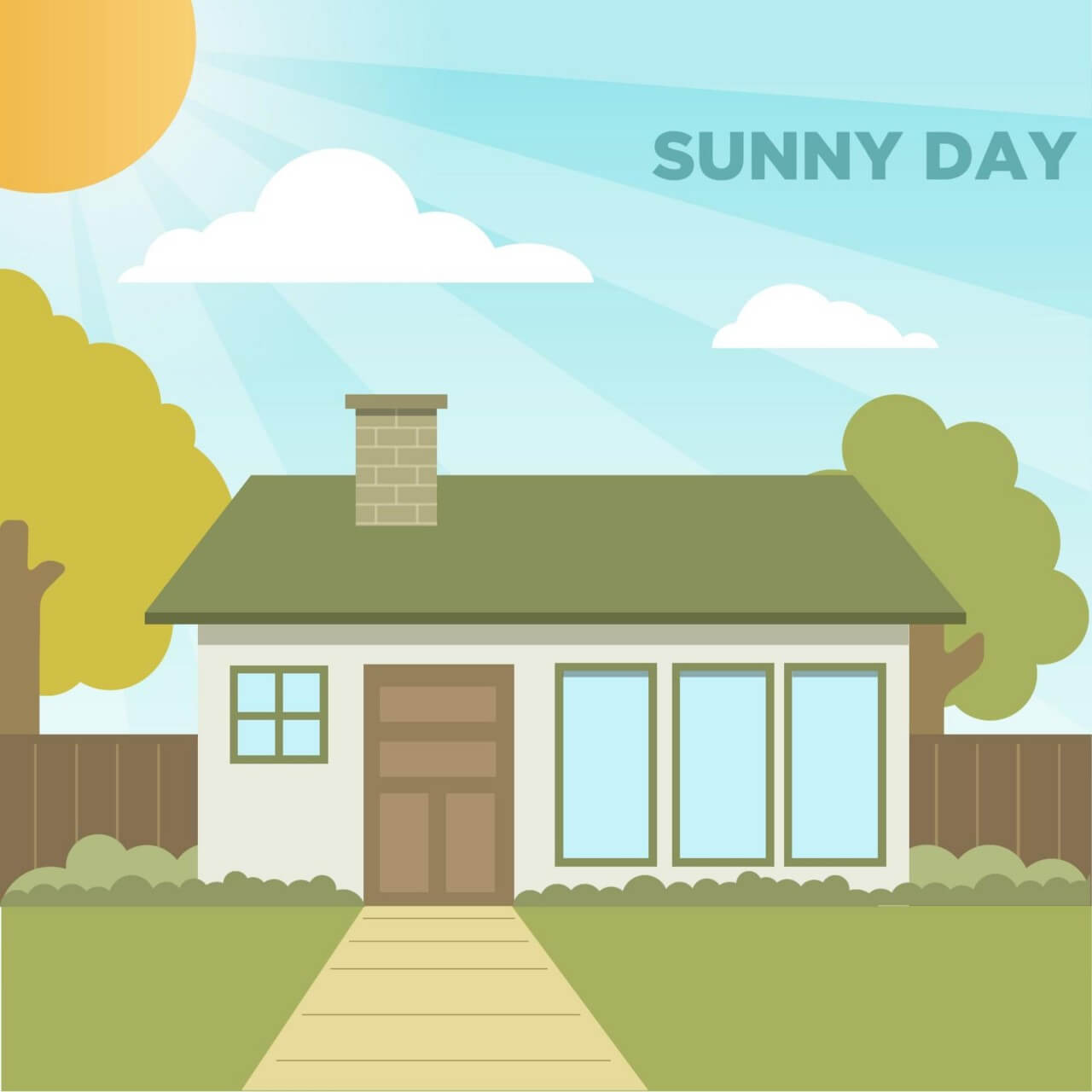 "Free vector ""Sunny Day"""